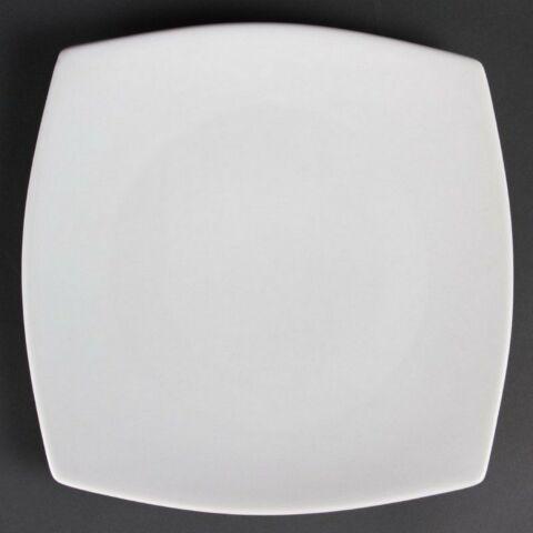 Olympia Whiteware abgerundete quadratische Teller 27cm (6 Stück)-Gastro-Germany