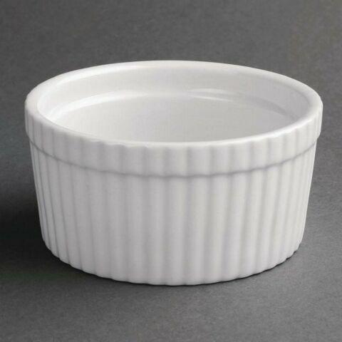 Olympia Whiteware Auflaufförmchen 10,5(Ø)cm (6 Stück)-Gastro-Germany
