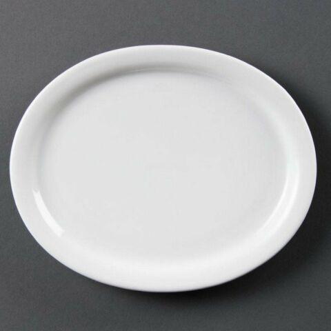 Olympia Whiteware ovale Servierteller 25cm (6 Stück)-Gastro-Germany