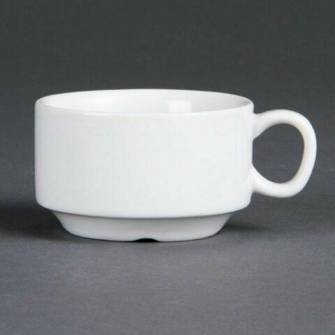 Olympia Whiteware stapelbare Espressotasse 9cl (12 Stück)-Gastro-Germany