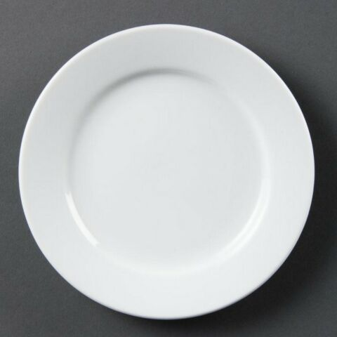Olympia Whiteware Teller mit breitem Rand 16,5cm (12 Stück)-Gastro-Germany