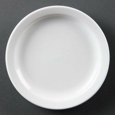 Olympia Whiteware Teller mit schmalem Rand 25cm (12 Stück)-Gastro-Germany