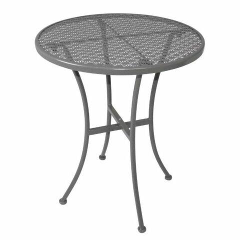 Outdoor Tisch KRISTA 140 rund aus Stahl Grau, 60x60x71cm-Gastro-Germany
