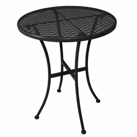 Outdoor Tisch KRISTA 140 rund aus Stahl Schwarz, 60x60x71cm-Gastro-Germany