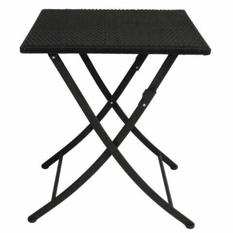 Outdoor Tisch KRISTA 160 eckig  Schwarz Klappbar, 60x60x71cm -Gastro-Germany