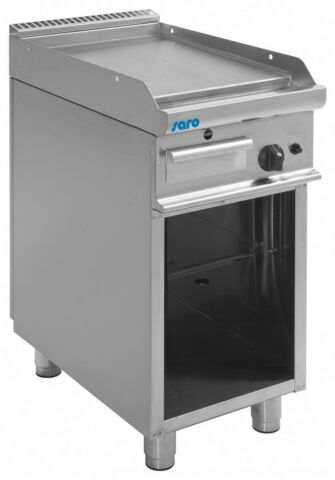 SARO Gas-Griddleplatte mit offenem Unterbau E7/KTG1BAL-Gastro-Germany