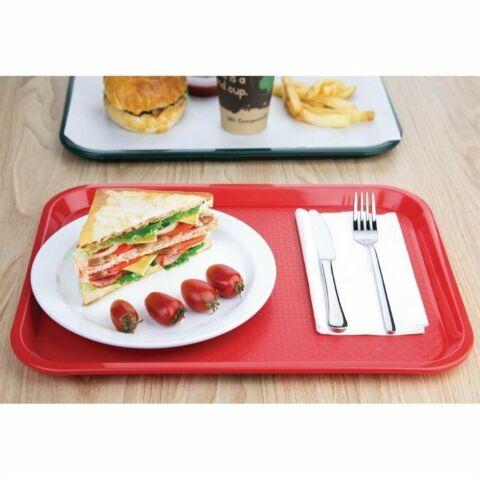 Kristallon Fast-Food-Tablett rot 41,5 x 30,5cm-Gastro-Germany