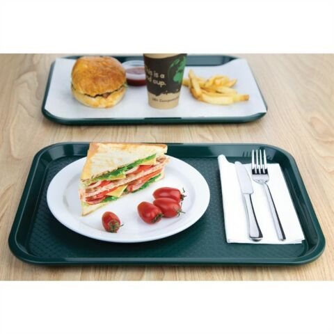 Kristallon Fast-Food-Tablett grün 41,5 x 30,5cm-Gastro-Germany