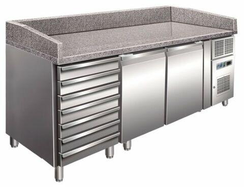 Pizzakühltisch 2610, 2025x800x1000 mm inkl. Aufkantung EEK B-Gastro-Germany