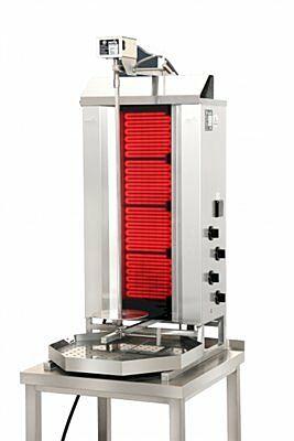 POTIS CE4 Ceran Elektro Gyrosgrill Dönergrill Kebabgrill 50 kg, Höhe 1120 mm-Gastro-Germany