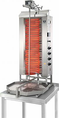 POTIS E4 Elektro Gyrosgrill Dönergrill Kebabgrill 80 kg, Höhe 1290 mm-Gastro-Germany