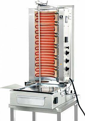POTIS F E3 Elektro Gyrosgrill Dönergrill Kebabgrill 50 kg, Höhe 1040 mm - Motor unten --Gastro-Germany