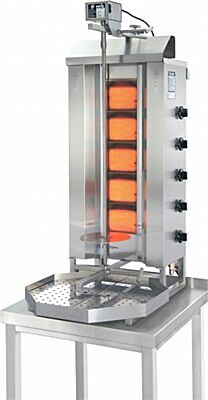 POTIS G3 Erdgas Gyrosgrill Dönergrill Kebabgrill 50 kg, Arbeitshöhe 1120 mm-Gastro-Germany