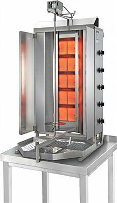 POTIS GD5 Erdgas Gyrosgrill Dönergrill Kebabgrill 120 kg, Arbeitshöhe 1310 mm-Gastro-Germany