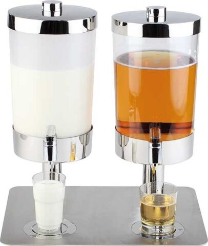 Saft- und Milchdispenser DUO SUNDAY, 2x 6 Liter-Gastro-Germany