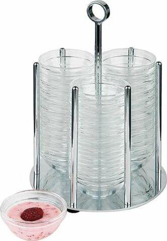 Schälchen-Spender MINI inkl. 36 Glasschalen, Ø 14 cm-Gastro-Germany