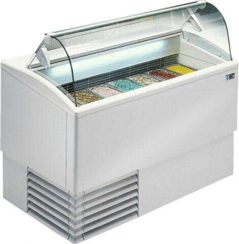 Speiseeisvitrine ISETTA TP LX 4, statische Kühlung, ohne Reservefach, Breite 824mm-Gastro-Germany