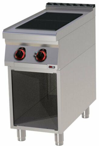 Profi Elektroherd mit offenem Unterbau 2 Platten  400x900x900 mm-Gastro-Germany