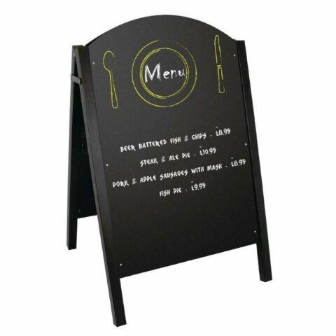 Olympia Kundenstopper Tafel Metall schwarz, Schreibfläche: 60 x 90cm-Gastro-Germany