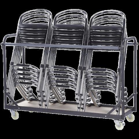 Stuhl Transportwagen Trolley für Stapelstühle, max. 30 Stühle