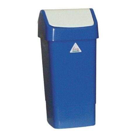 SYR Abfalleimer mit Schwingdeckel blau 50L