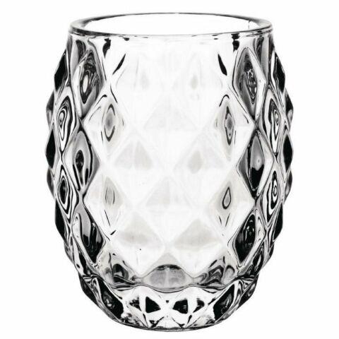 Teelichthalter Diamantdesign Glas (6 Stück)-Gastro-Germany