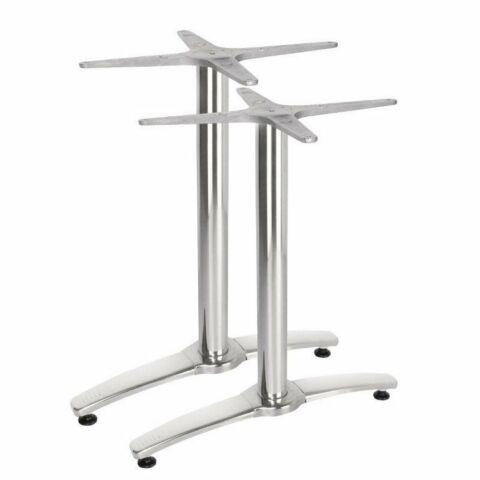 Tischgestell PRIMERO Aluminium für Tischplatten 110 x 70cm, 2 Stück-Gastro-Germany