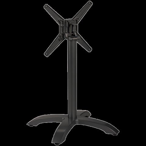 Tischgestell Nina für Platten bis 80x80 cm, schwarz, klappbar