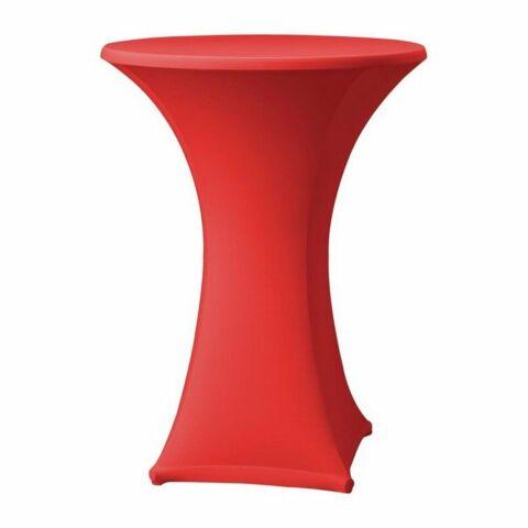Tischhusse für Stehtische Samba rot , 85cm-Gastro-Germany