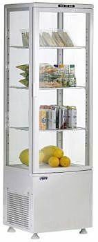 Umluftkühlvitrine SVEN weiß, 515x485x1689 mm 235 Liter-Gastro-Germany