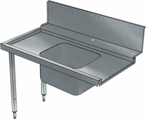 Vorwaschtisch mit 1 Becken, Laufrichtung links, 1200 mm-Gastro-Germany