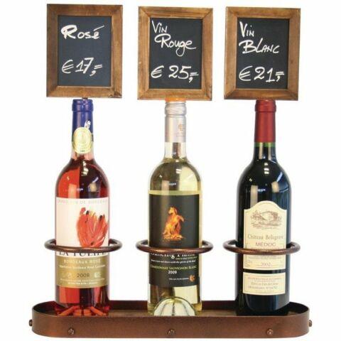 Securit Weinflaschenhalter dreifach
