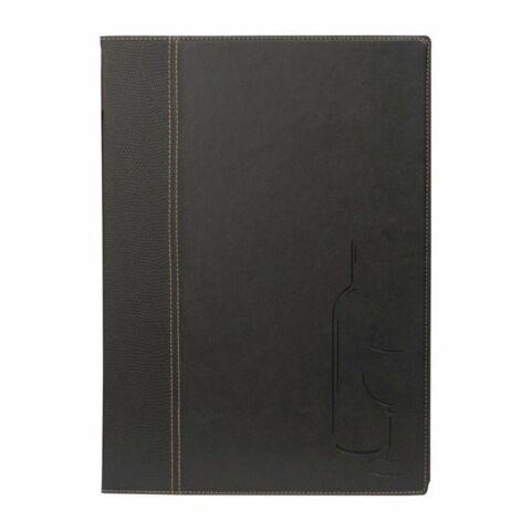 Weinkarte schwarz A4, 13x0,5x23,5 cm-Gastro-Germany